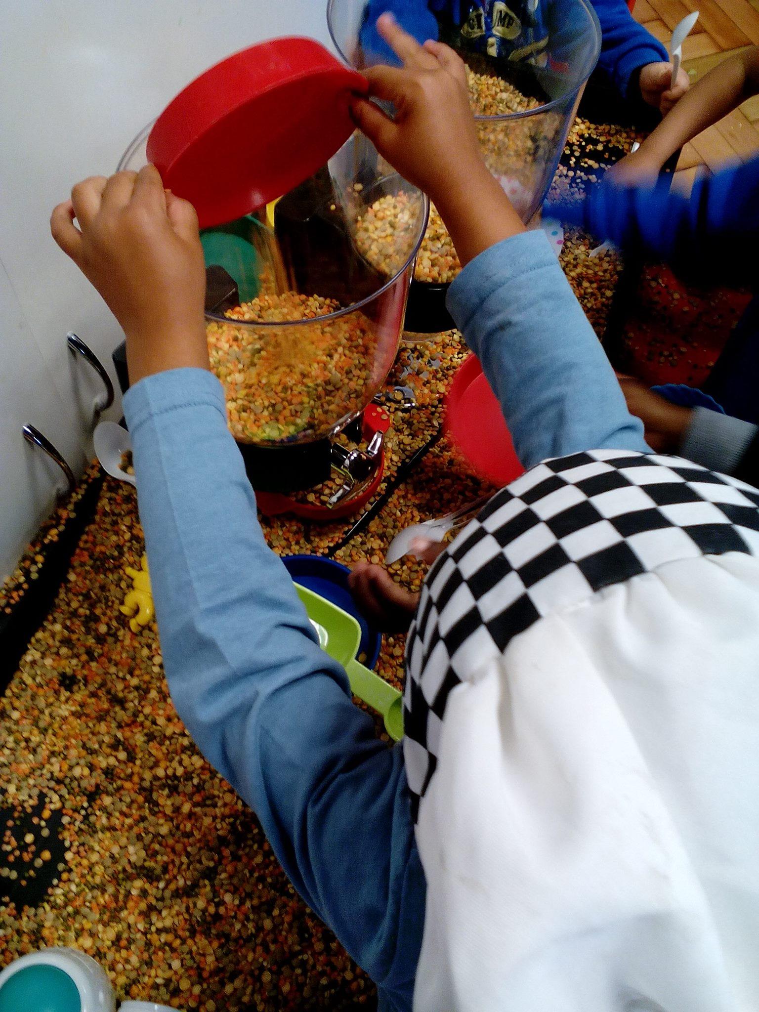 Children doing activity at Millies